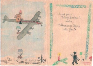 Xmas card candy bomber